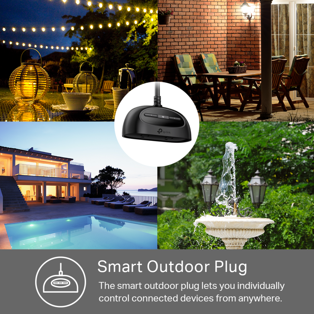 Kasa Smart Wi-Fi Outdoor Plug Smart Outdoor Plug