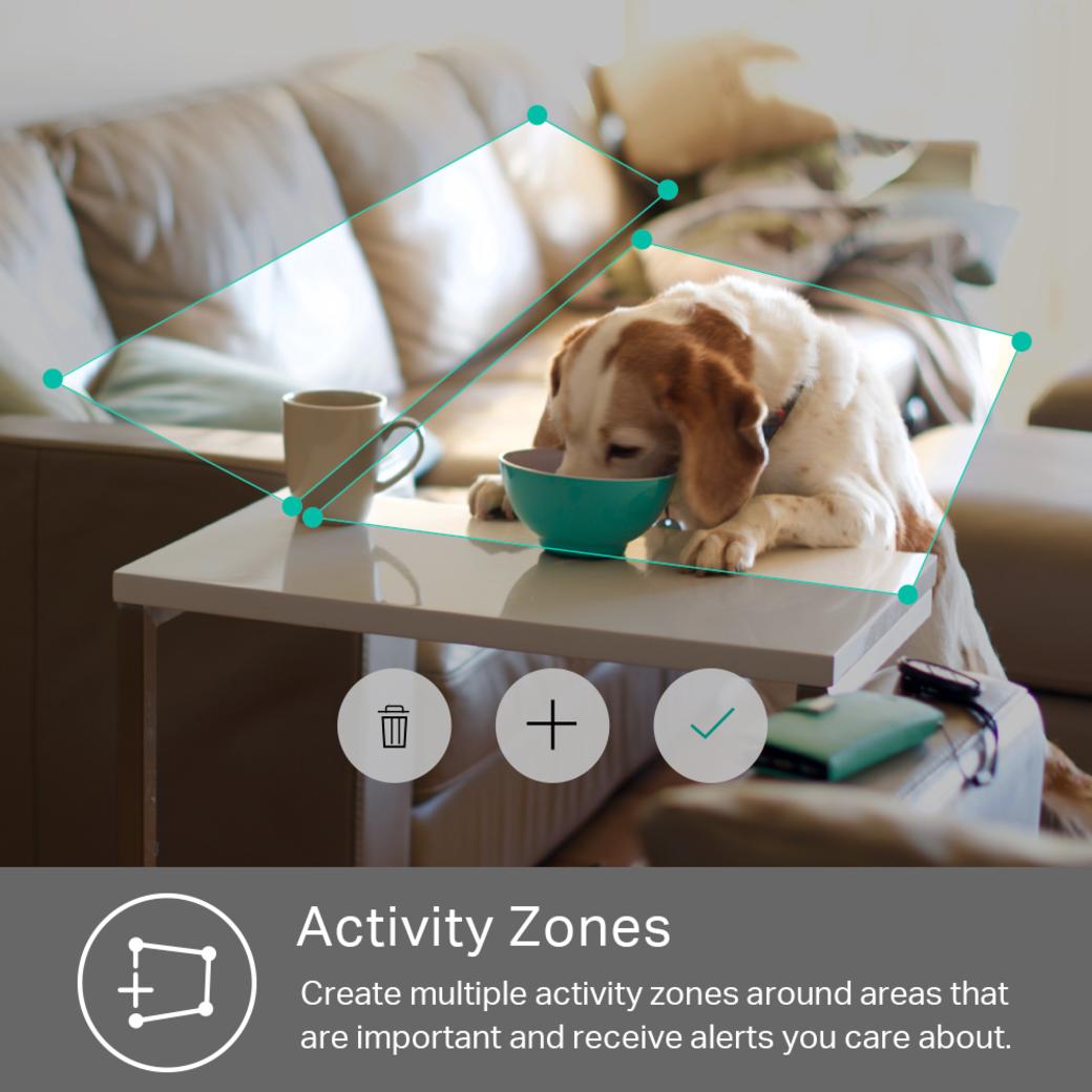 Kasa Spot gallery image activity zones