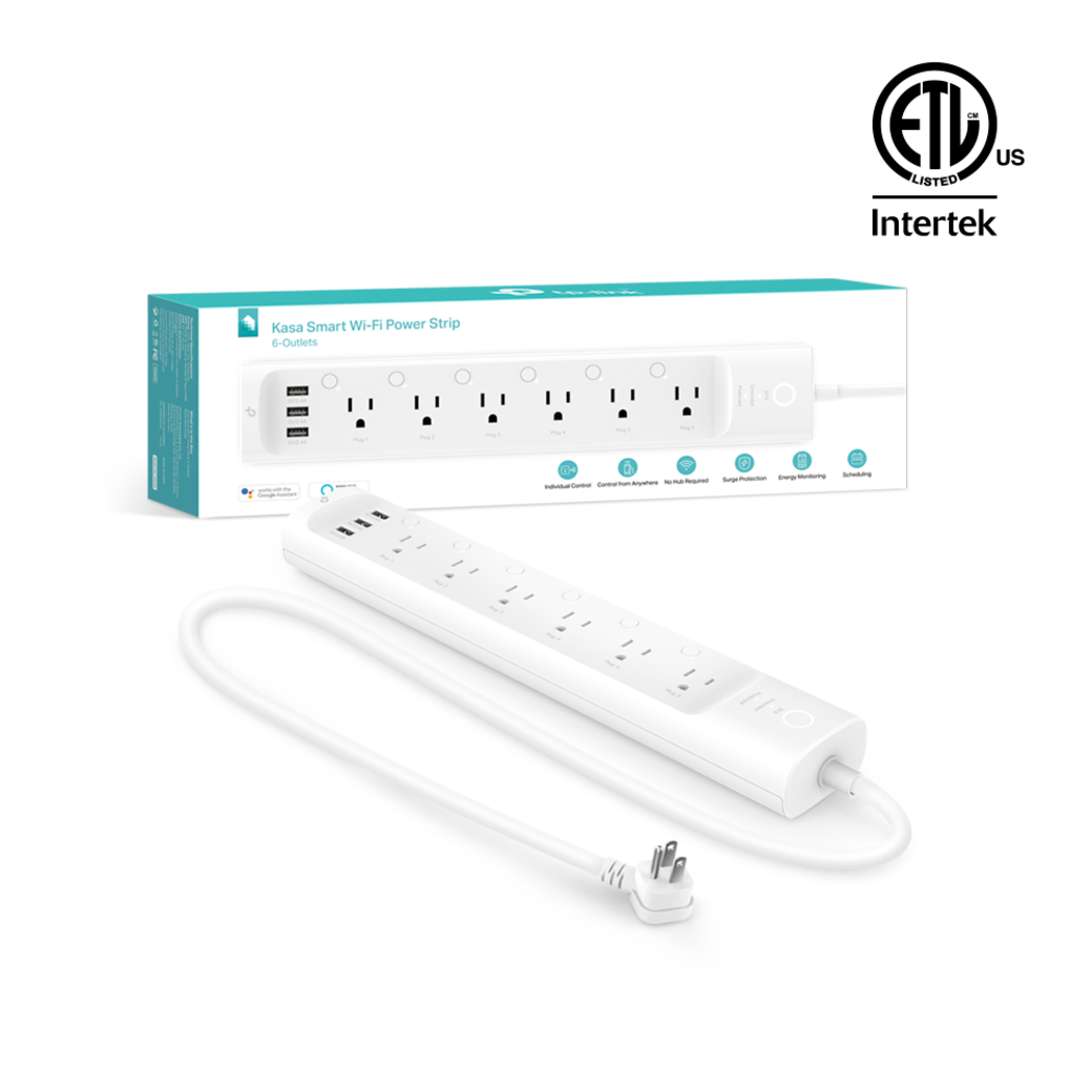 Kasa Smart Wi-Fi Power Strip gallery image packaging with product image