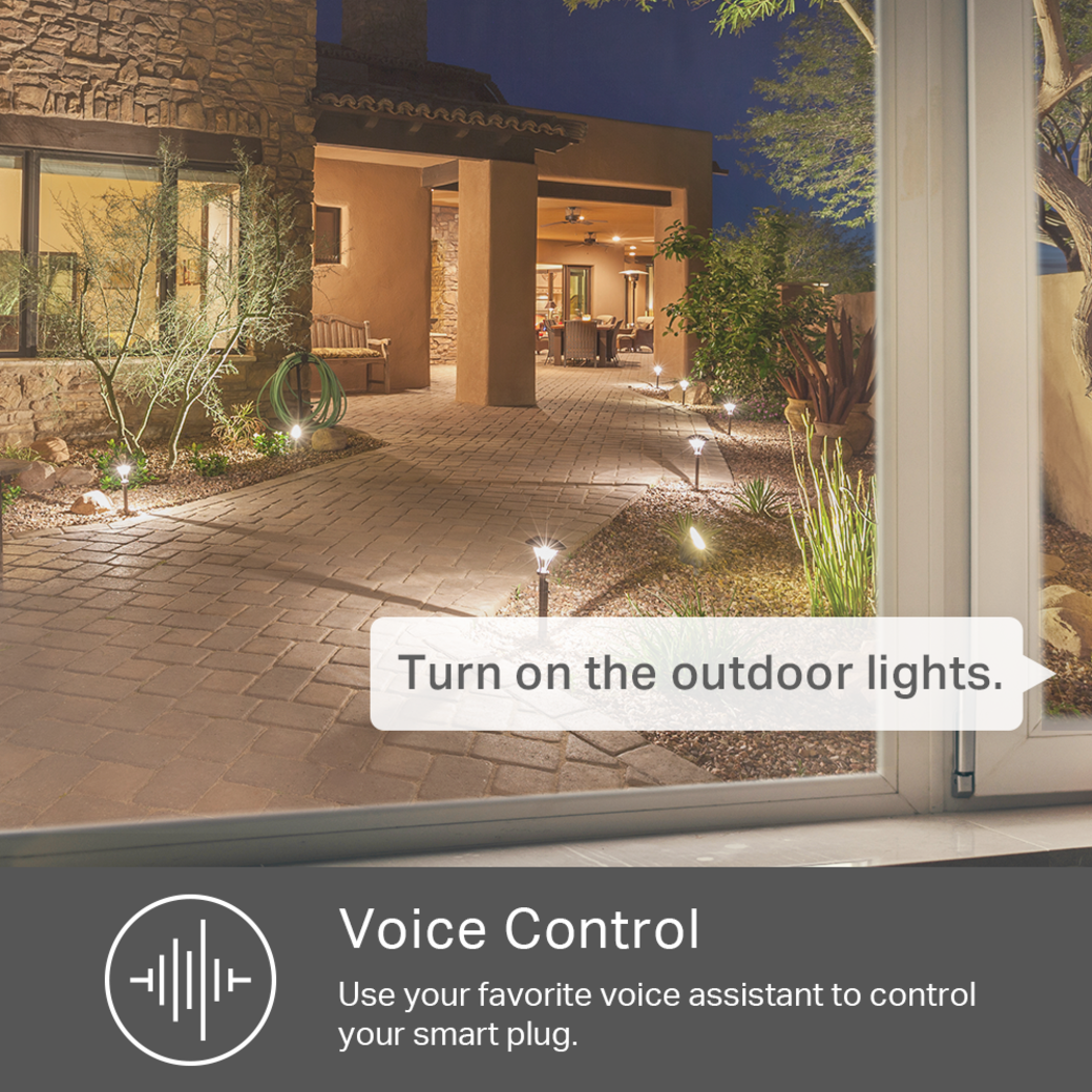 Kasa Smart Wi-Fi Outdoor Plug voice control